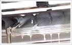 吹き出し口の水圧洗浄